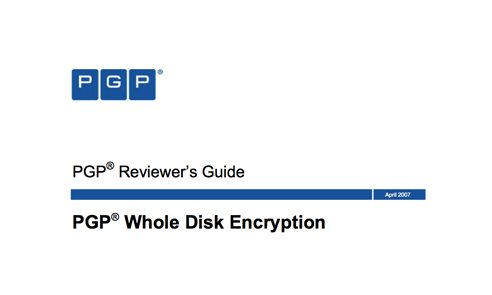 PGP WDE Reviewer's Guide
