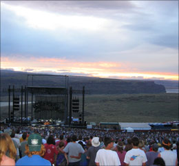 Overlooking the Gorge as Phish jam on